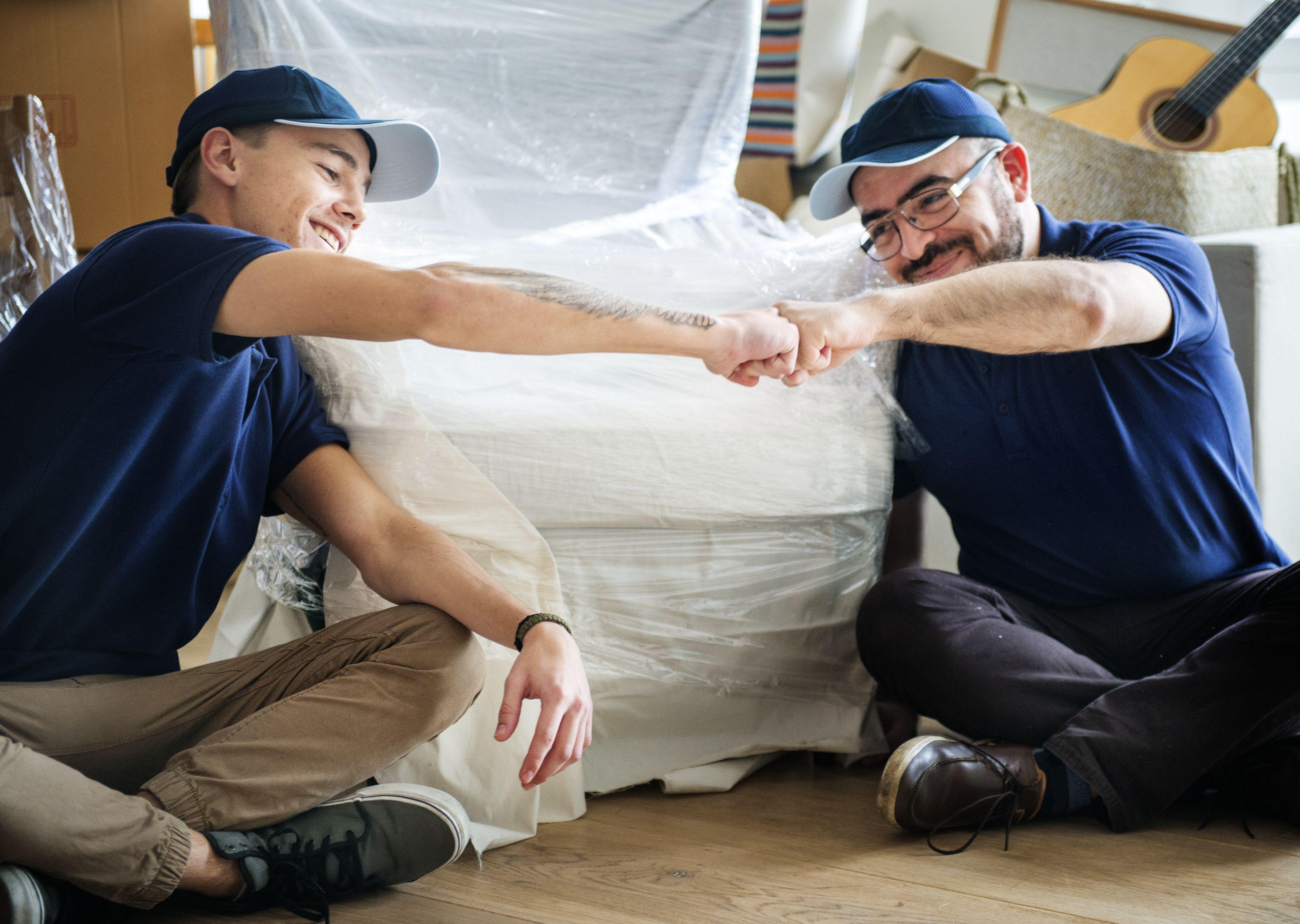 Furniture delivery service concept